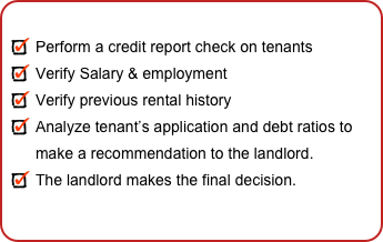 Perform a credit report check on tenants