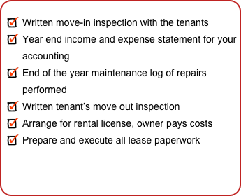Written move-in inspection with the tenants