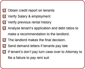 Obtain credit report on tenants
